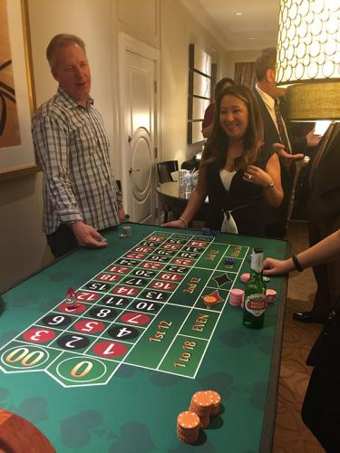 Roulette at a house party!